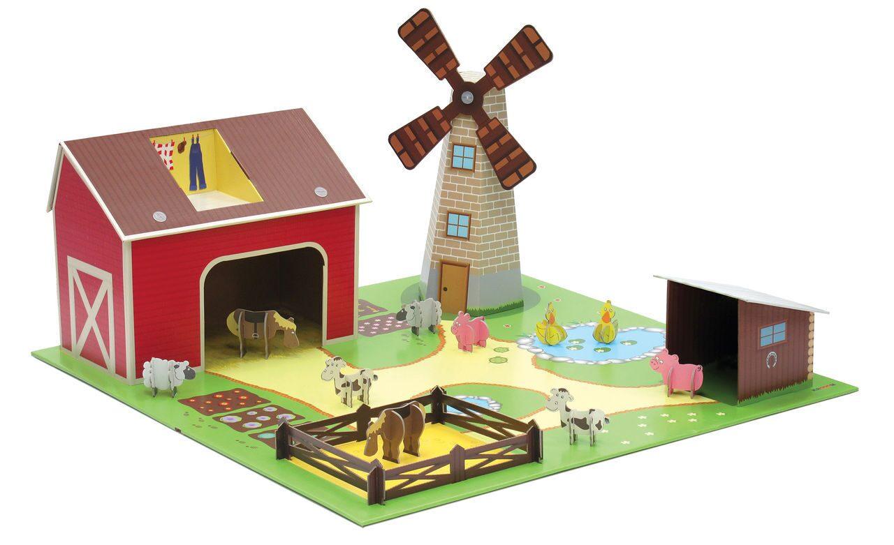 Ферма для игрушечных животных
